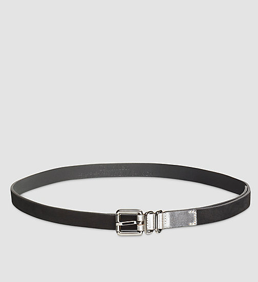 Leather Roller Buckle Belt - BLACK - CALVIN KLEIN  - main image