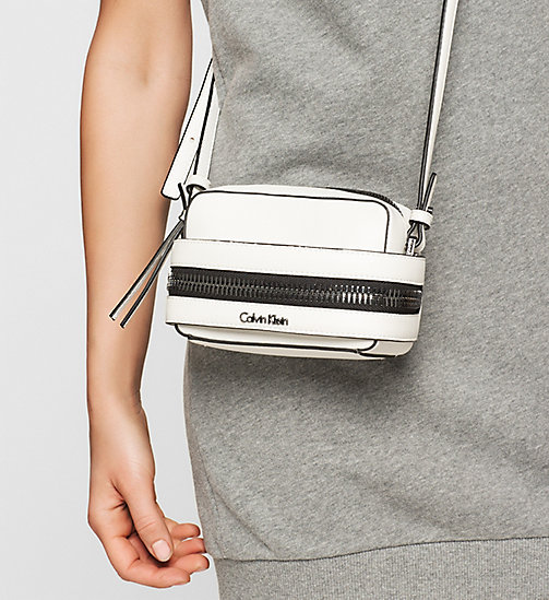 CALVINKLEIN Small Crossover Clutch - POWDER WHITE - CALVIN KLEIN CLUTCH BAGS - detail image 1