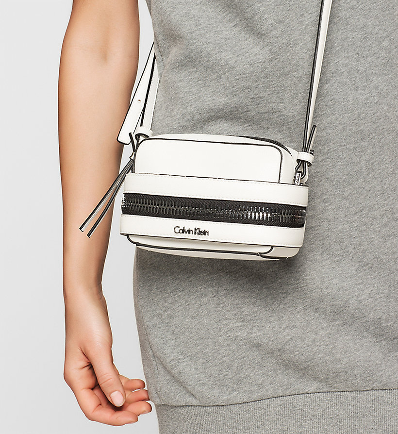 CALVINKLEIN Small Crossover Clutch - POWDER WHITE - CALVIN KLEIN SHOES & ACCESSORIES - detail image 1