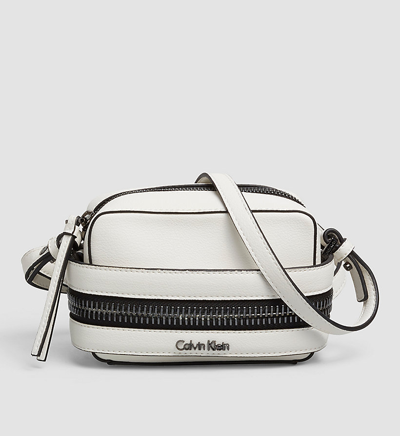CALVINKLEIN Small Crossover Clutch - POWDER WHITE - CALVIN KLEIN SHOES & ACCESSORIES - main image