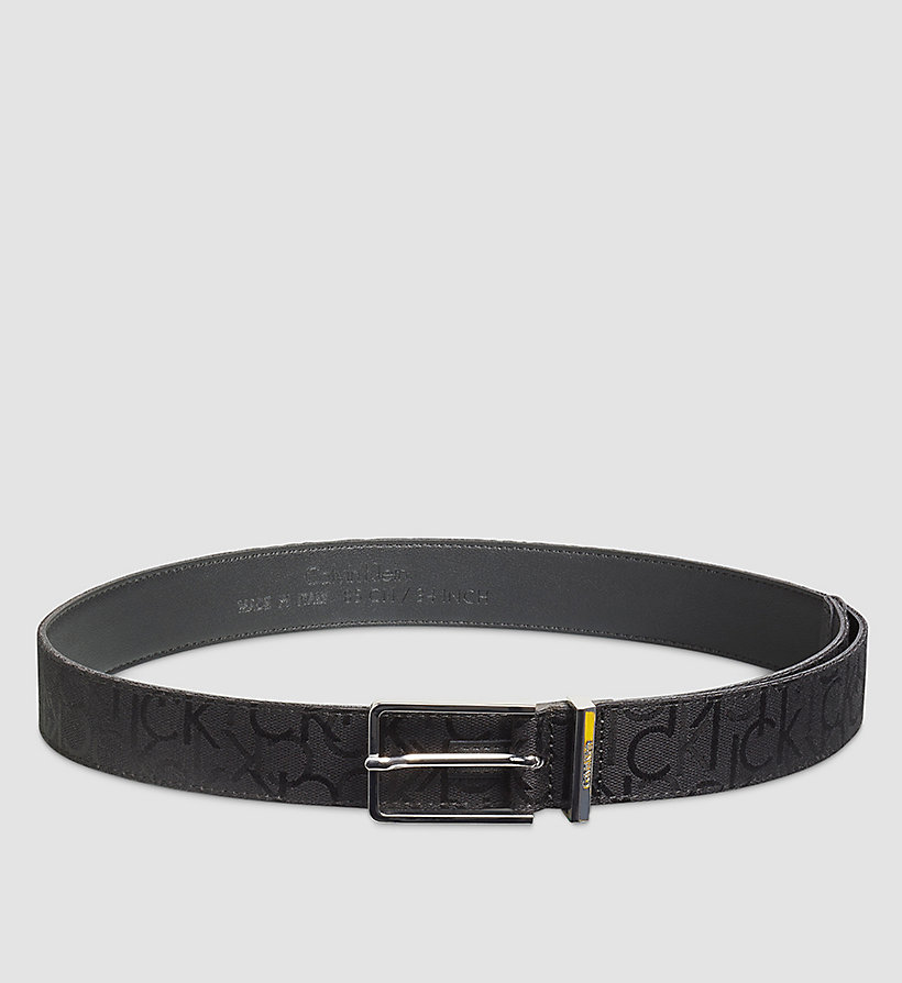CALVINKLEIN Logo Printed Belt - BLACK - CALVIN KLEIN SHOES & ACCESSORIES - main image