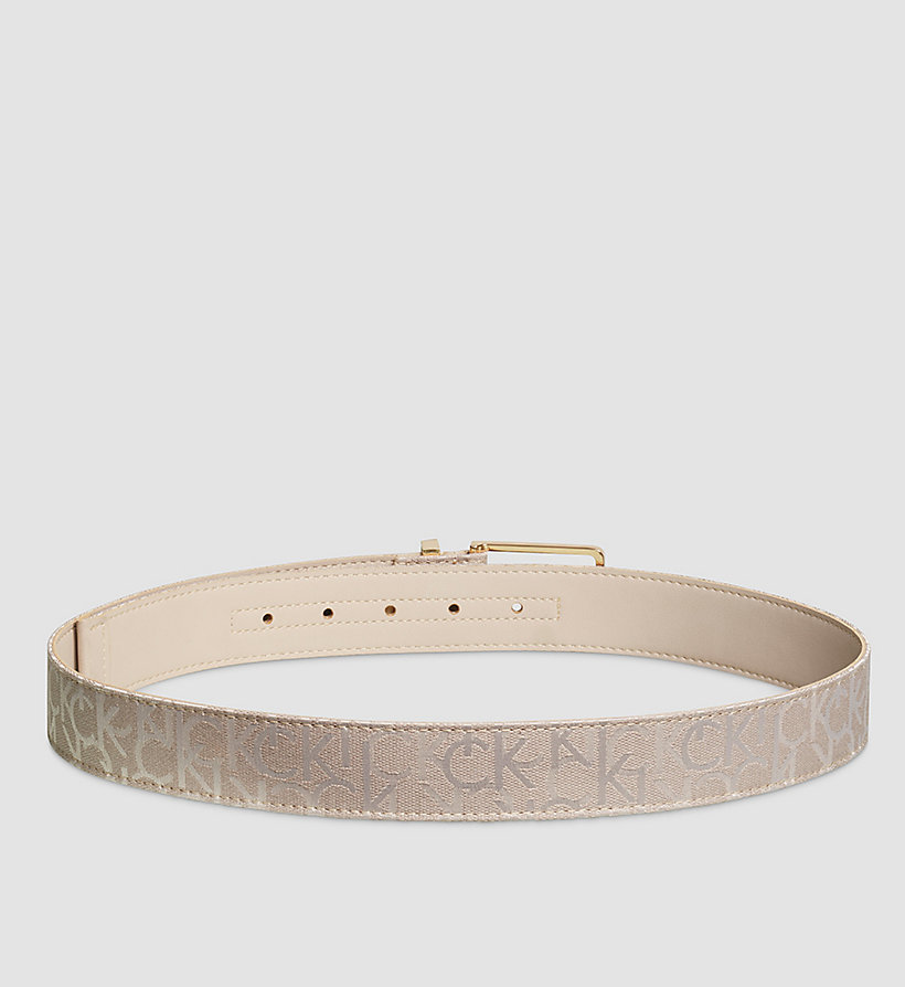 CALVINKLEIN Logo Printed Belt - MUSHROOM - CALVIN KLEIN SHOES & ACCESSORIES - detail image 1