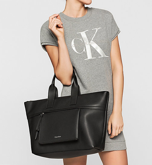 Large Tote Bag - BLACK - CALVIN KLEIN  - detail image 1