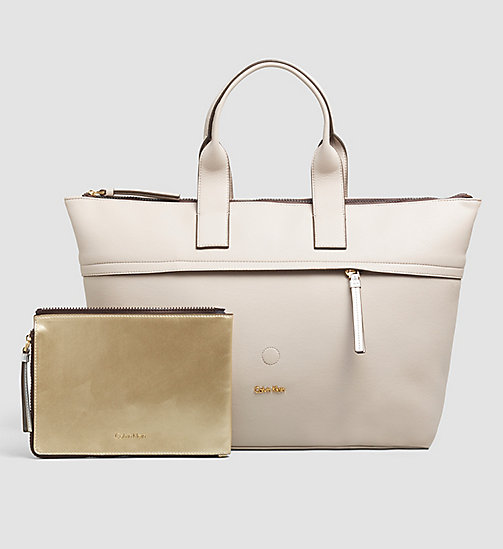 CALVINKLEIN Large Tote Bag - MUSHROOM - CALVIN KLEIN Up to 50% - main image