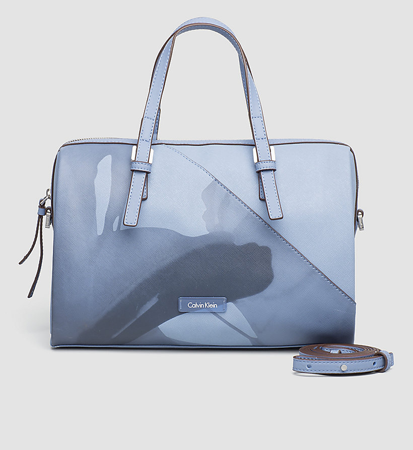 CALVINKLEIN Printed Duffle Bag - CASHMERE BLUE - CALVIN KLEIN SHOES & ACCESSORIES - main image