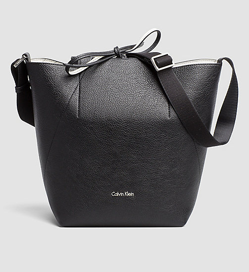 CALVINKLEIN Reversible Bucket Bag - BLACK - CALVIN KLEIN HOBO BAGS - main image