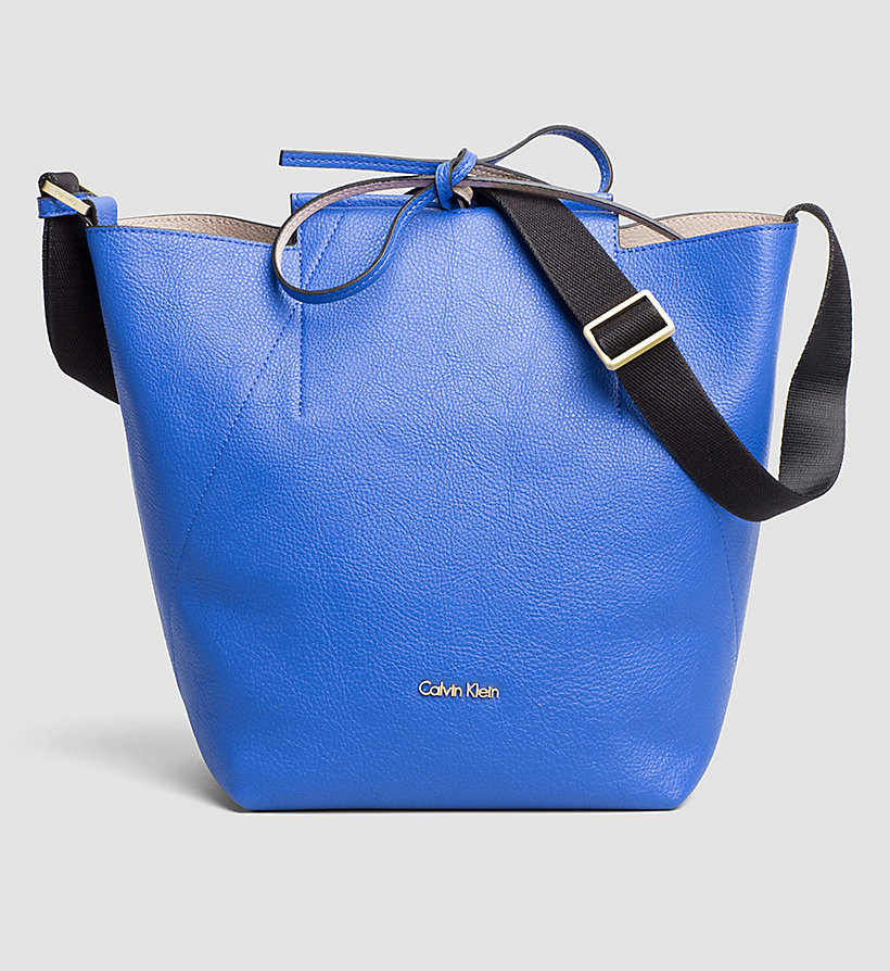 CALVINKLEIN Reversible Bucket Bag - DAZZLING BLUE - CALVIN KLEIN SHOES & ACCESSORIES - main image