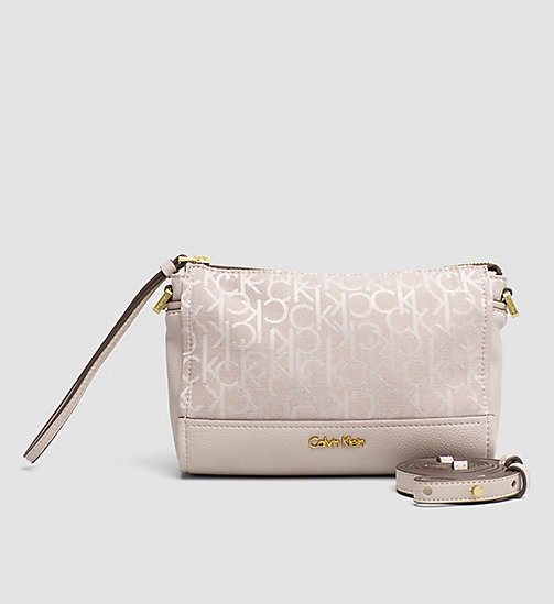 CALVINKLEIN Crossover clutch logo-jacquard - MUSHROOM - CALVIN KLEIN CROSSOVER-BAGS - main image
