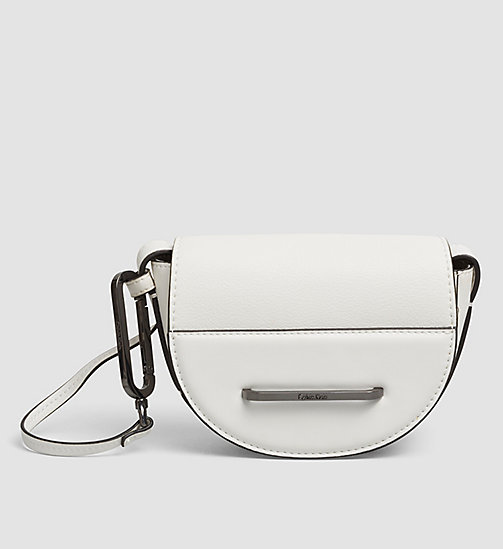 CALVINKLEIN Half Moon Mini Crossover - POWDER WHITE - CALVIN KLEIN CROSSOVER BAGS - main image