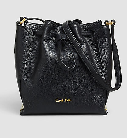CALVIN KLEIN Leather Bucket Bag K60K602489001