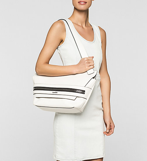 Medium satchel - POWDER WHITE - CALVIN KLEIN  - detail image 1