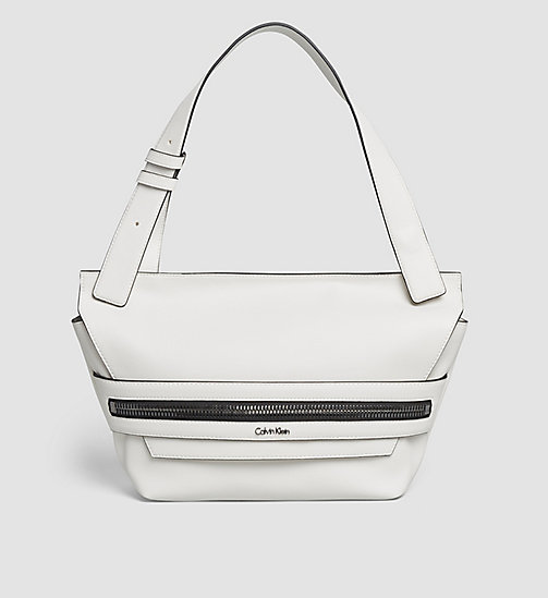 CALVINKLEIN Medium Satchel - POWDER WHITE - CALVIN KLEIN SATCHELS - main image