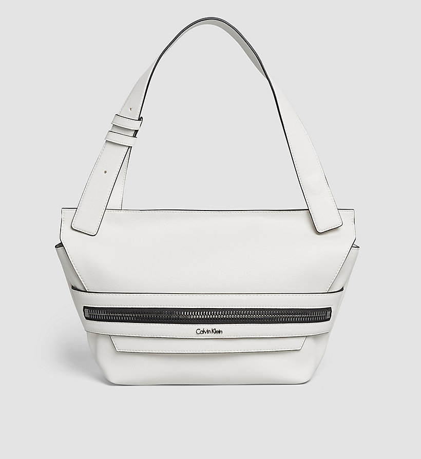 CALVINKLEIN Medium Satchel - POWDER WHITE - CALVIN KLEIN SHOES & ACCESSORIES - main image