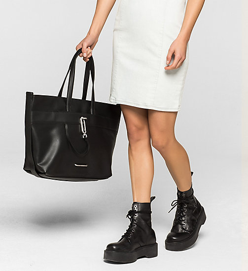 Tote Bag - BLACK - CALVIN KLEIN SHOES & ACCESSORIES - detail image 1