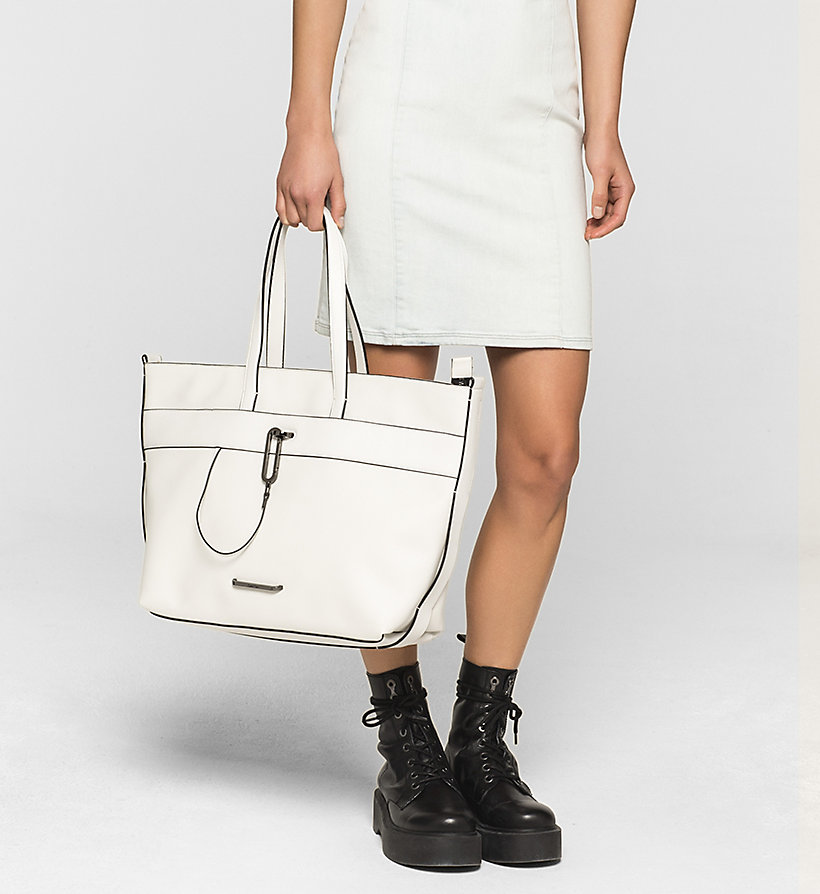 CALVINKLEIN Tote Bag - POWDER WHITE - CALVIN KLEIN SHOES & ACCESSORIES - detail image 1