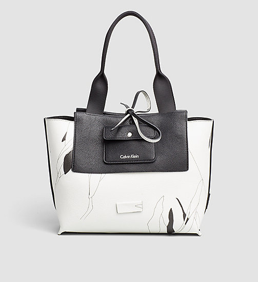 CALVINKLEIN Medium Reversible Tote Bag - BLACK - CALVIN KLEIN BAGS - detail image 1