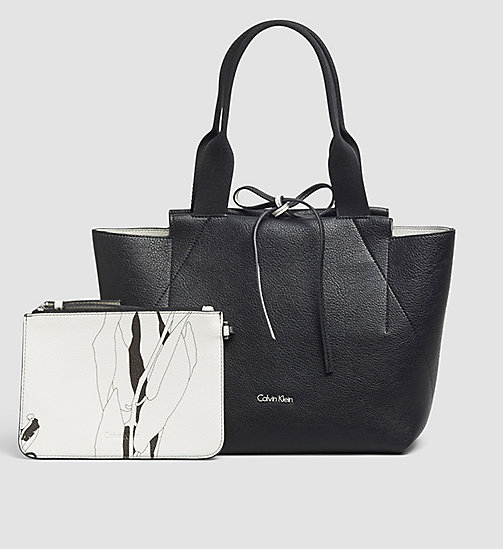 CALVINKLEIN Medium Reversible Tote Bag - BLACK - CALVIN KLEIN BAGS - main image