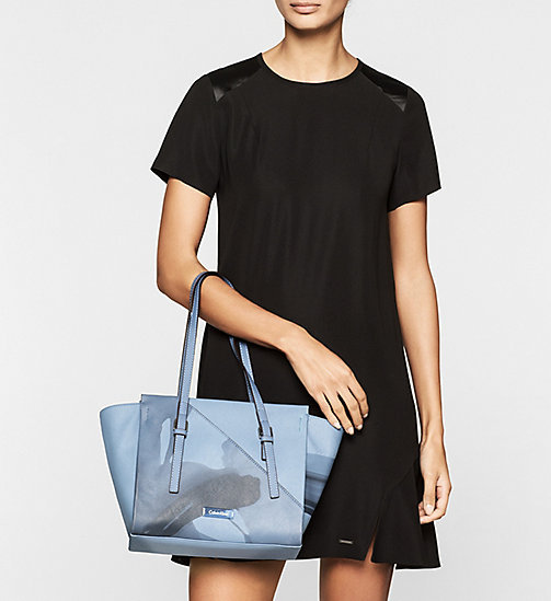Printed Medium Tote Bag - CASHMERE BLUE - CALVIN KLEIN SHOES & ACCESSORIES - detail image 1