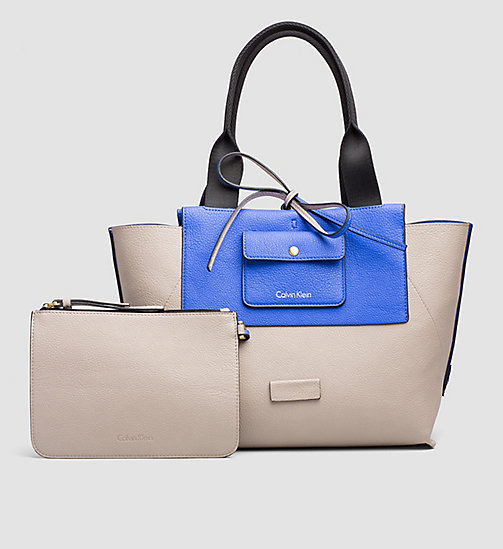 Large Reversible Tote Bag - DAZZLING BLUE - CALVIN KLEIN SHOES & ACCESSORIES - detail image 1