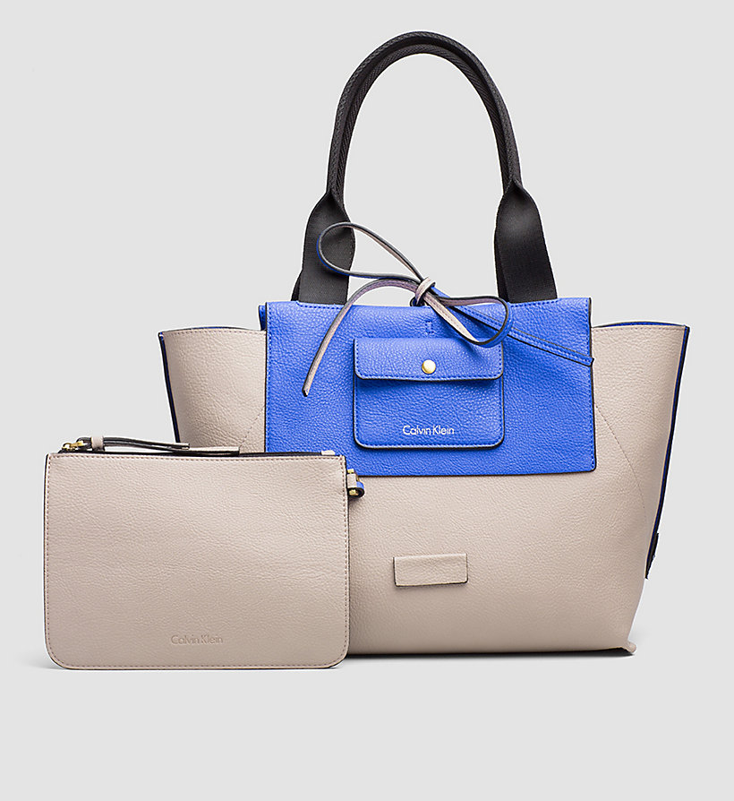 CALVINKLEIN Large Reversible Tote Bag - DAZZLING BLUE - CALVIN KLEIN SHOES & ACCESSORIES - detail image 1
