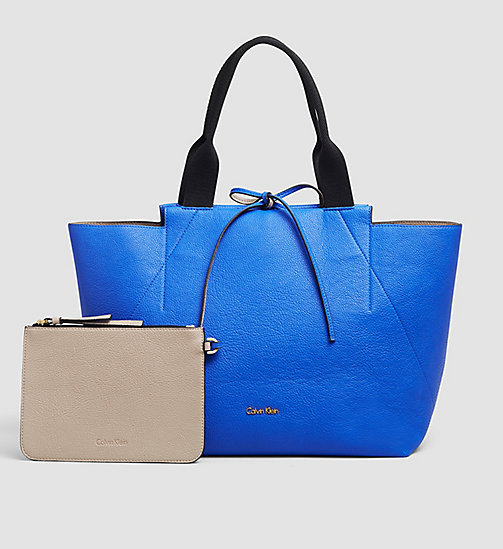 Large Reversible Tote Bag - DAZZLING BLUE - CALVIN KLEIN  - main image