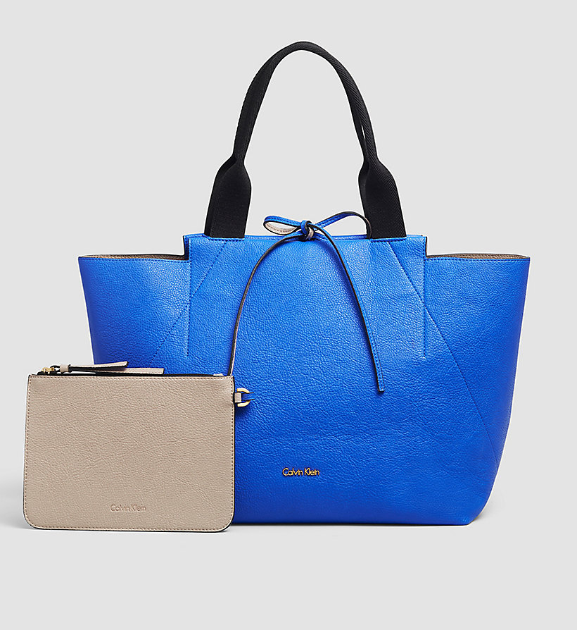 CALVINKLEIN Large Reversible Tote Bag - DAZZLING BLUE - CALVIN KLEIN SHOES & ACCESSORIES - main image