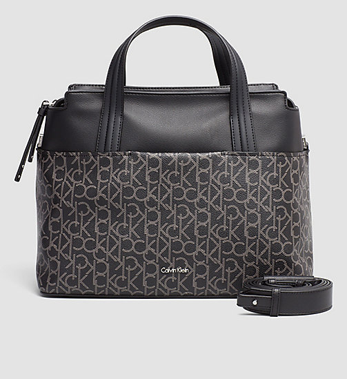 Large Logo Tote Bag - BLACK MONOGRAM - CALVIN KLEIN  - main image