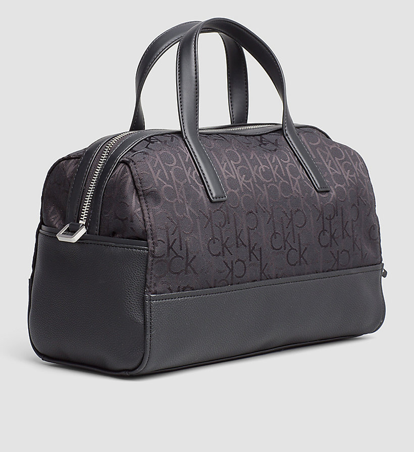 CALVINKLEIN Logo Jacquard Duffle Bag - BLACK - CALVIN KLEIN SHOES & ACCESSORIES - detail image 1
