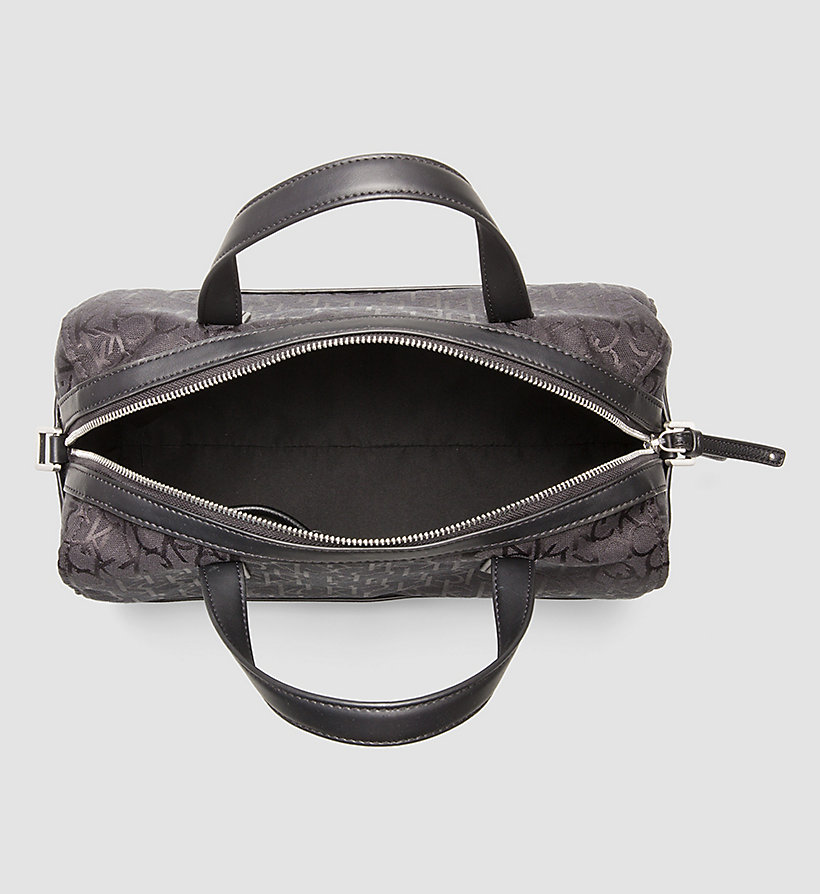 CALVINKLEIN Logo Jacquard Duffle Bag - BLACK - CALVIN KLEIN SHOES & ACCESSORIES - detail image 2