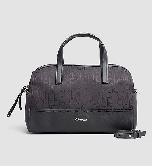 Logo Jacquard Duffle Bag - BLACK - CALVIN KLEIN SHOES & ACCESSORIES - main image