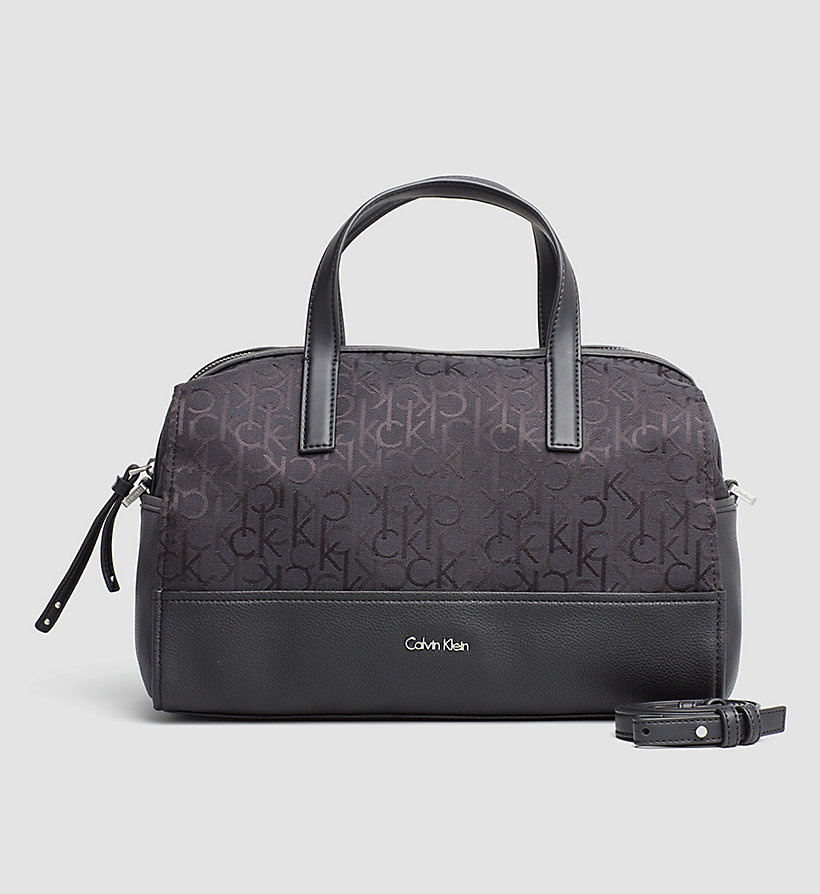 CALVINKLEIN Logo Jacquard Duffle Bag - BLACK - CALVIN KLEIN SHOES & ACCESSORIES - main image