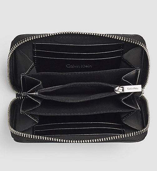 CALVINKLEIN Medium Ziparound Wallet - BLACK - CALVIN KLEIN WALLETS - detail image 1