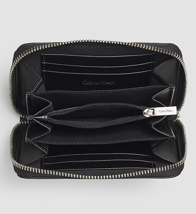 CALVINKLEIN Medium Ziparound Wallet - BLACK - CALVIN KLEIN SHOES & ACCESSORIES - detail image 1