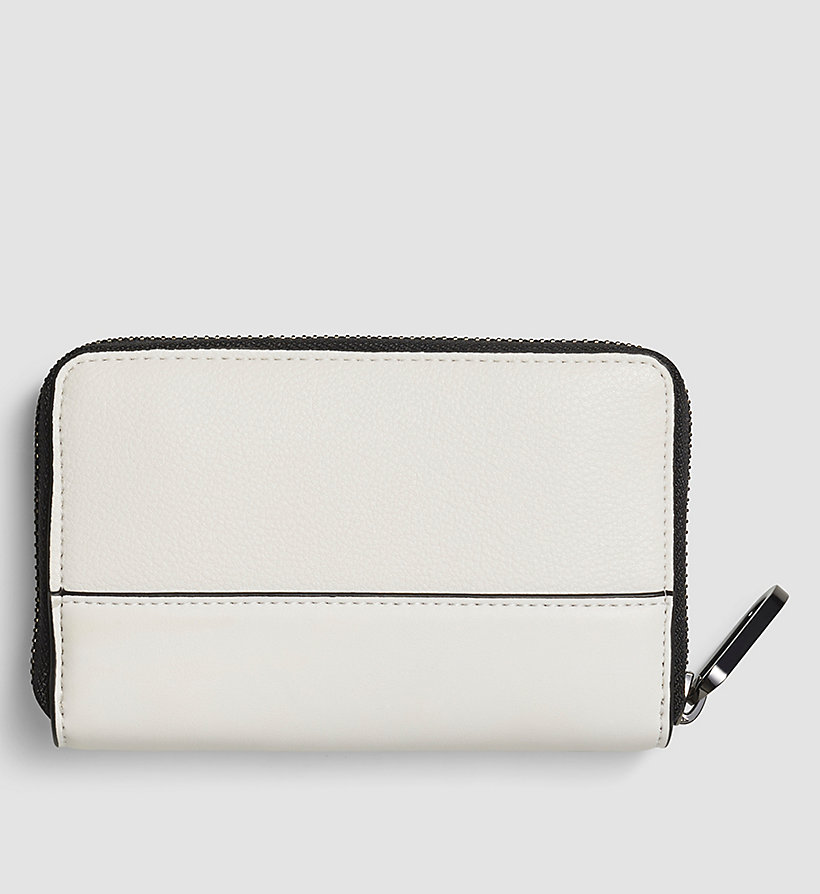 CALVINKLEIN Medium Ziparound Wallet - POWDER WHITE - CALVIN KLEIN SHOES & ACCESSORIES - detail image 2