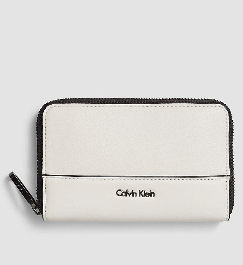 CALVINKLEIN Medium Ziparound Wallet - POWDER WHITE - CALVIN KLEIN SHOES & ACCESSORIES - main image