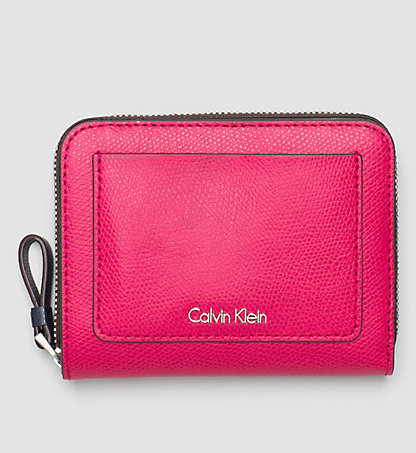CALVIN KLEIN Leather Ziparound Flap Wallet K60K602546640