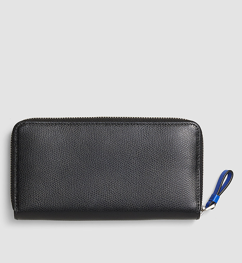 CALVINKLEIN Large Leather Ziparound Wallet - BLACK - CALVIN KLEIN SHOES & ACCESSORIES - detail image 2