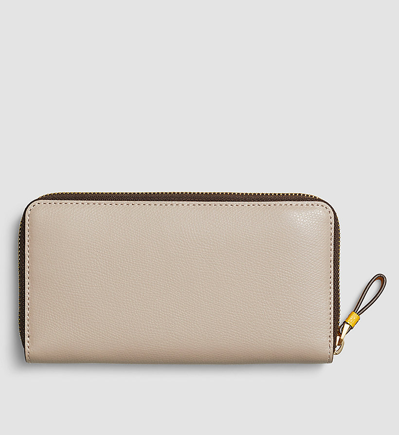 CALVINKLEIN Large Leather Ziparound Wallet - MUSHROOM - CALVIN KLEIN SHOES & ACCESSORIES - detail image 2