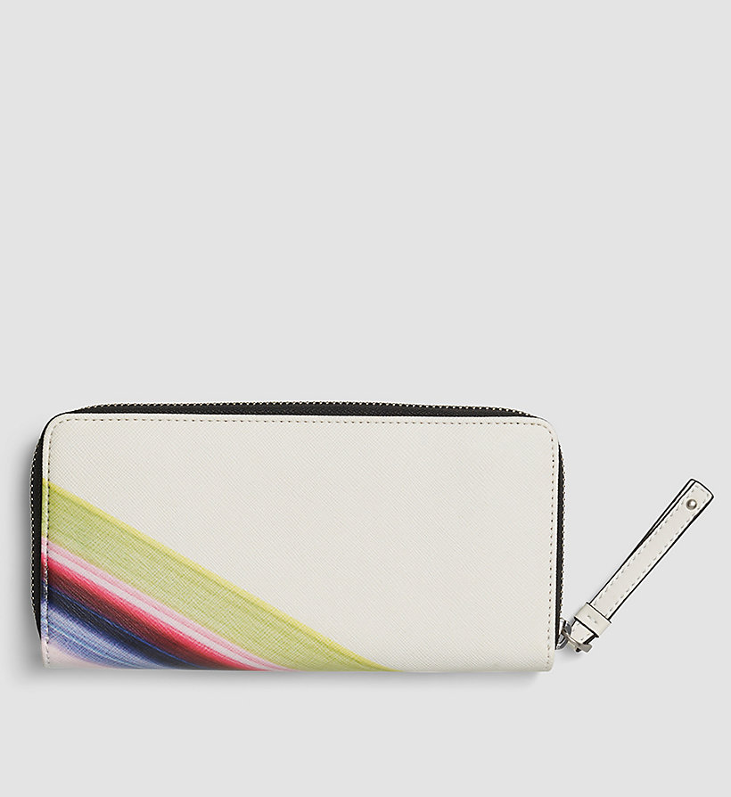 CALVINKLEIN Printed Large Ziparound Wallet - POWDER WHITE - CALVIN KLEIN SHOES & ACCESSORIES - detail image 2