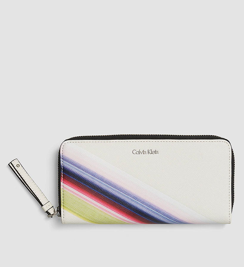 CALVINKLEIN Printed Large Ziparound Wallet - POWDER WHITE - CALVIN KLEIN SHOES & ACCESSORIES - main image