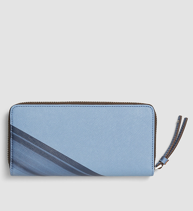CALVINKLEIN Printed Large Ziparound Wallet - CASHMERE BLUE - CALVIN KLEIN SHOES & ACCESSORIES - detail image 2