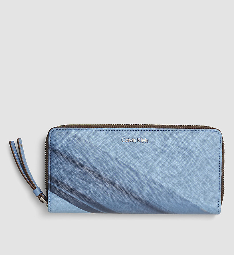 CALVINKLEIN Printed Large Ziparound Wallet - CASHMERE BLUE - CALVIN KLEIN SHOES & ACCESSORIES - main image