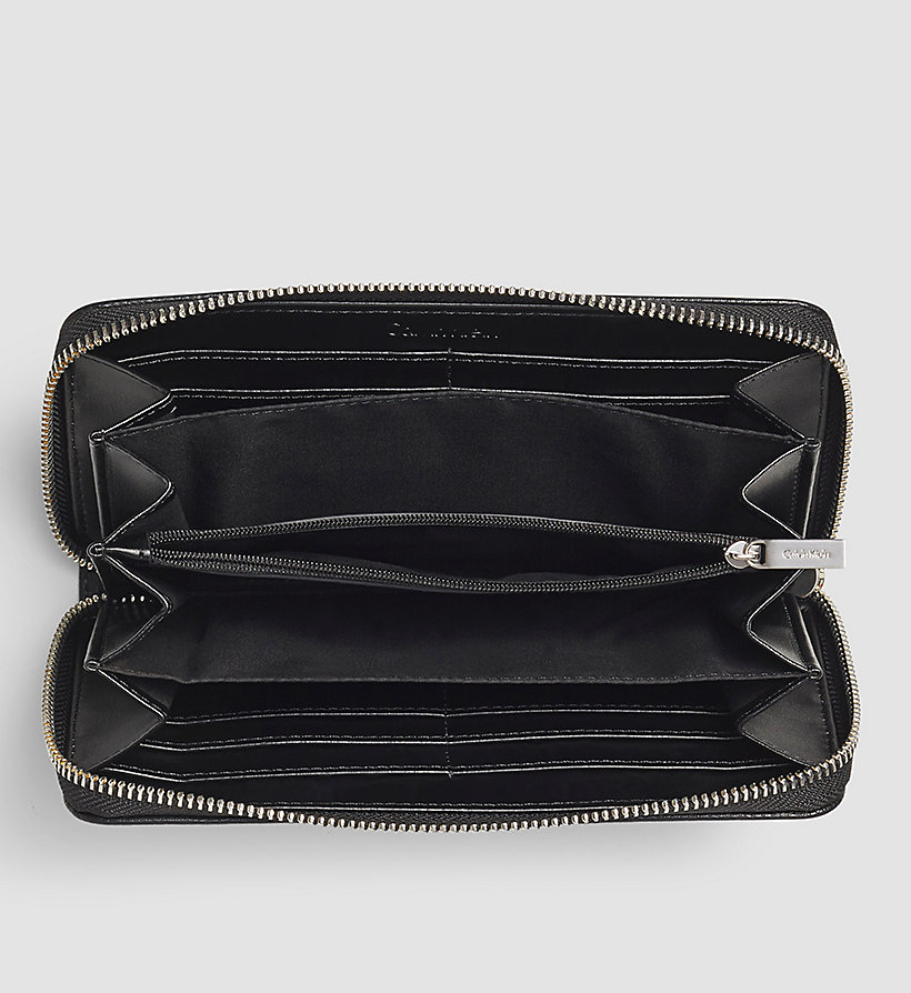 CALVINKLEIN Large Ziparound Wallet - BLACK - CALVIN KLEIN SHOES & ACCESSORIES - detail image 1