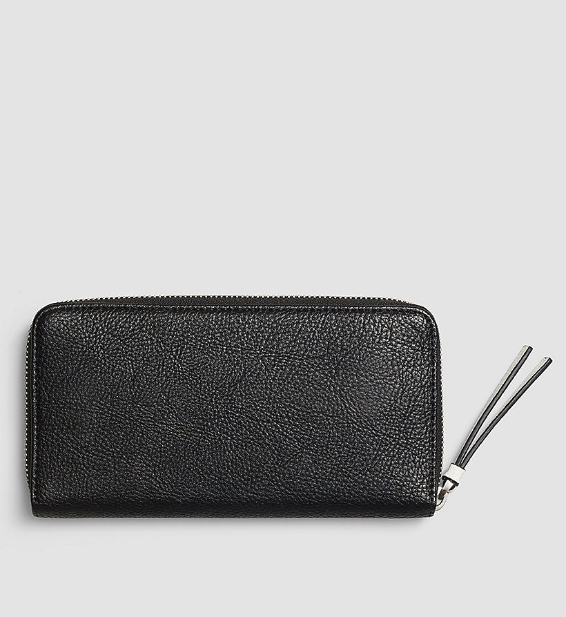 CALVINKLEIN Large Ziparound Wallet - BLACK - CALVIN KLEIN SHOES & ACCESSORIES - detail image 2