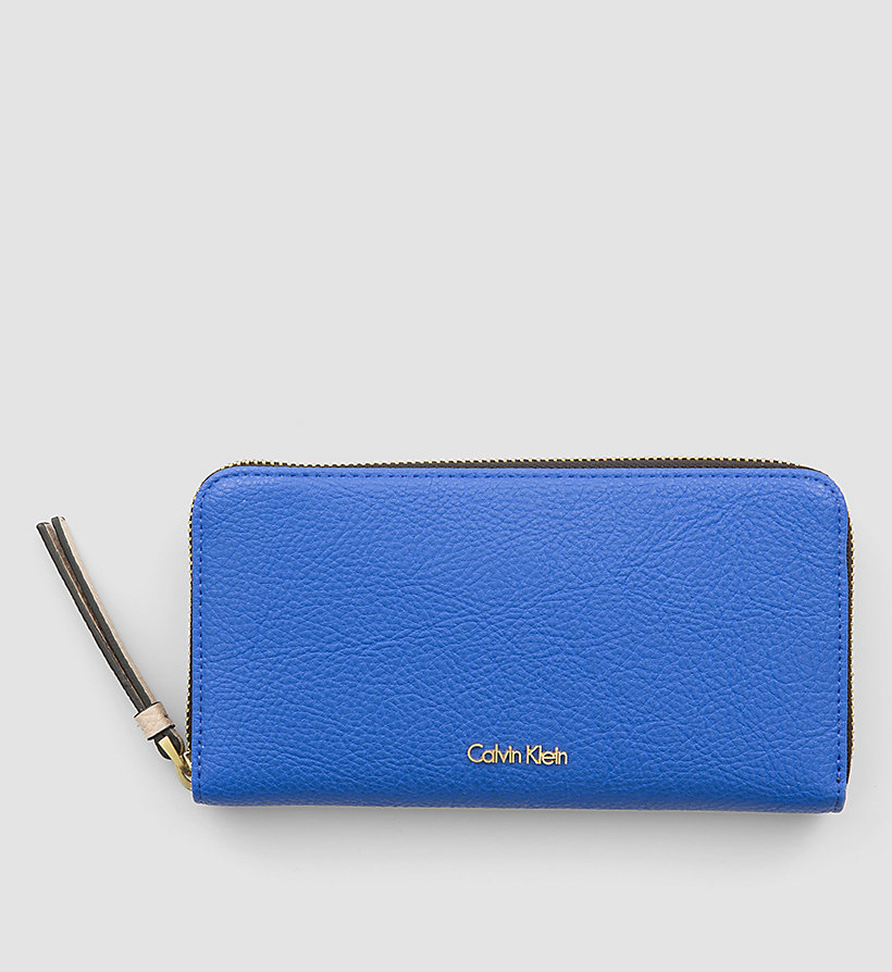 CALVINKLEIN Large Ziparound Wallet - DAZZLING BLUE - CALVIN KLEIN SHOES & ACCESSORIES - main image