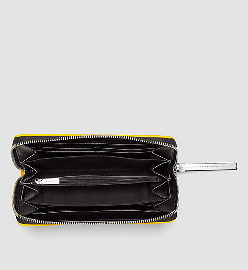 CALVINKLEIN Large Ziparound Wallet - GOLDEN ROD - CALVIN KLEIN WALLETS - detail image 1