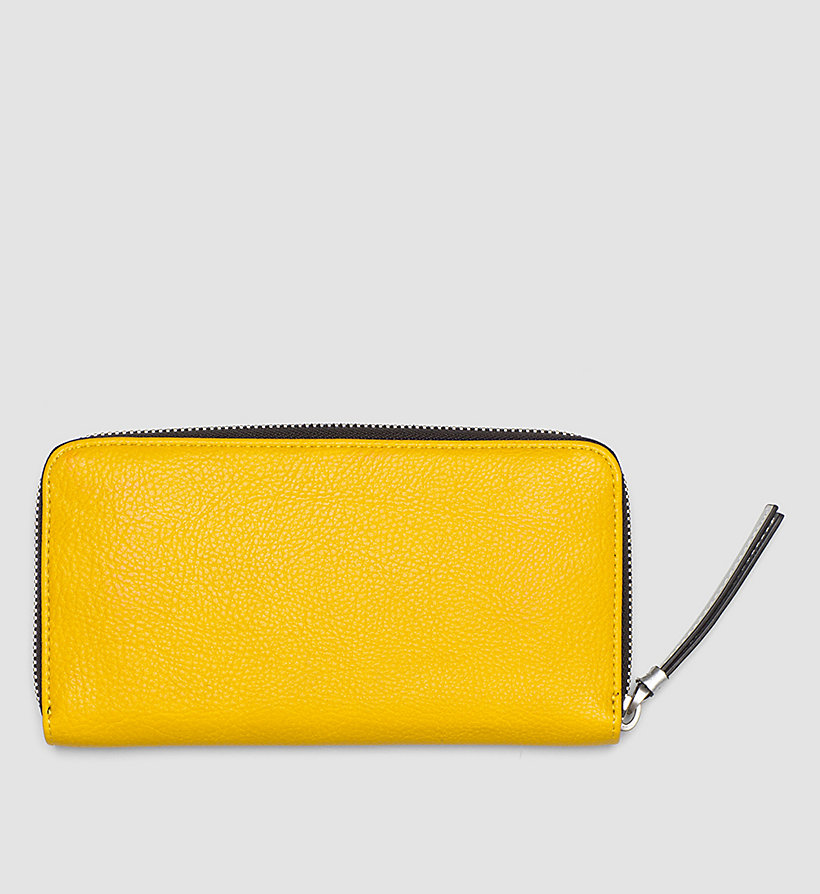 CALVINKLEIN Large Ziparound Wallet - GOLDEN ROD - CALVIN KLEIN SHOES & ACCESSORIES - detail image 2