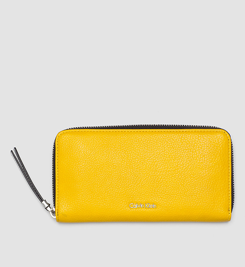 CALVINKLEIN Large Ziparound Wallet - GOLDEN ROD - CALVIN KLEIN SHOES & ACCESSORIES - main image