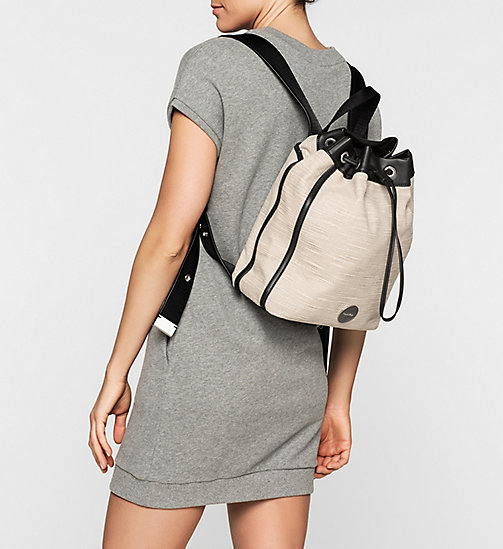 CALVINKLEIN Canvas Backpack - MUSHROOM - CALVIN KLEIN BACKPACKS - detail image 1