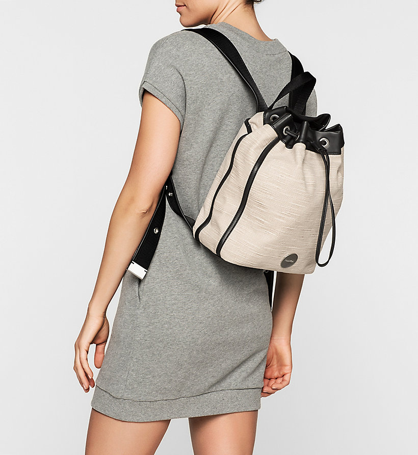 CALVINKLEIN Canvas Backpack - MUSHROOM - CALVIN KLEIN SHOES & ACCESSORIES - detail image 1